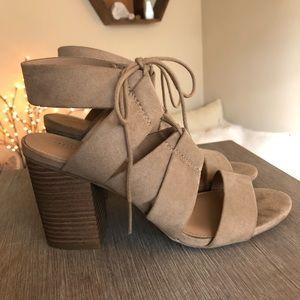 Merona stacked heel sandals